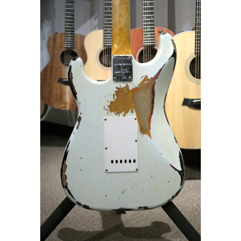 Fender Custom Shop LTD 60s Bound Neck Heavy Relic Strat Olympic White Over 3TSB - Bananas at Large - 9