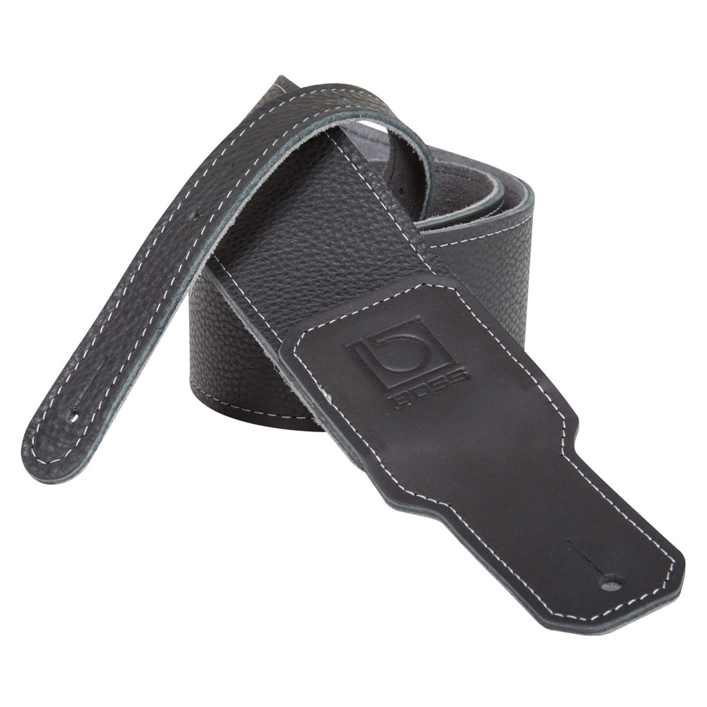 Boss BSL-30-BLK 3 in. Premium Leather Instrument Strap - Bananas at Large - 1