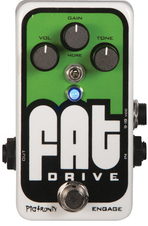 Pigtronix FAT Drive Tube Sound Overdrive Pedal
