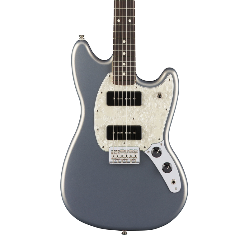 Fender Mustang 90 with Rosewood Fingerboard - Silver - Bananas At Large®