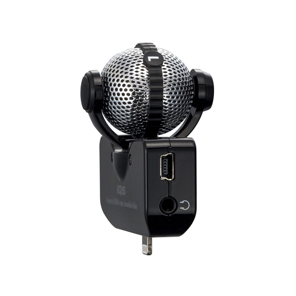 Zoom IQ5 Lightning Stereo Microphone - Black - Bananas at Large - 2