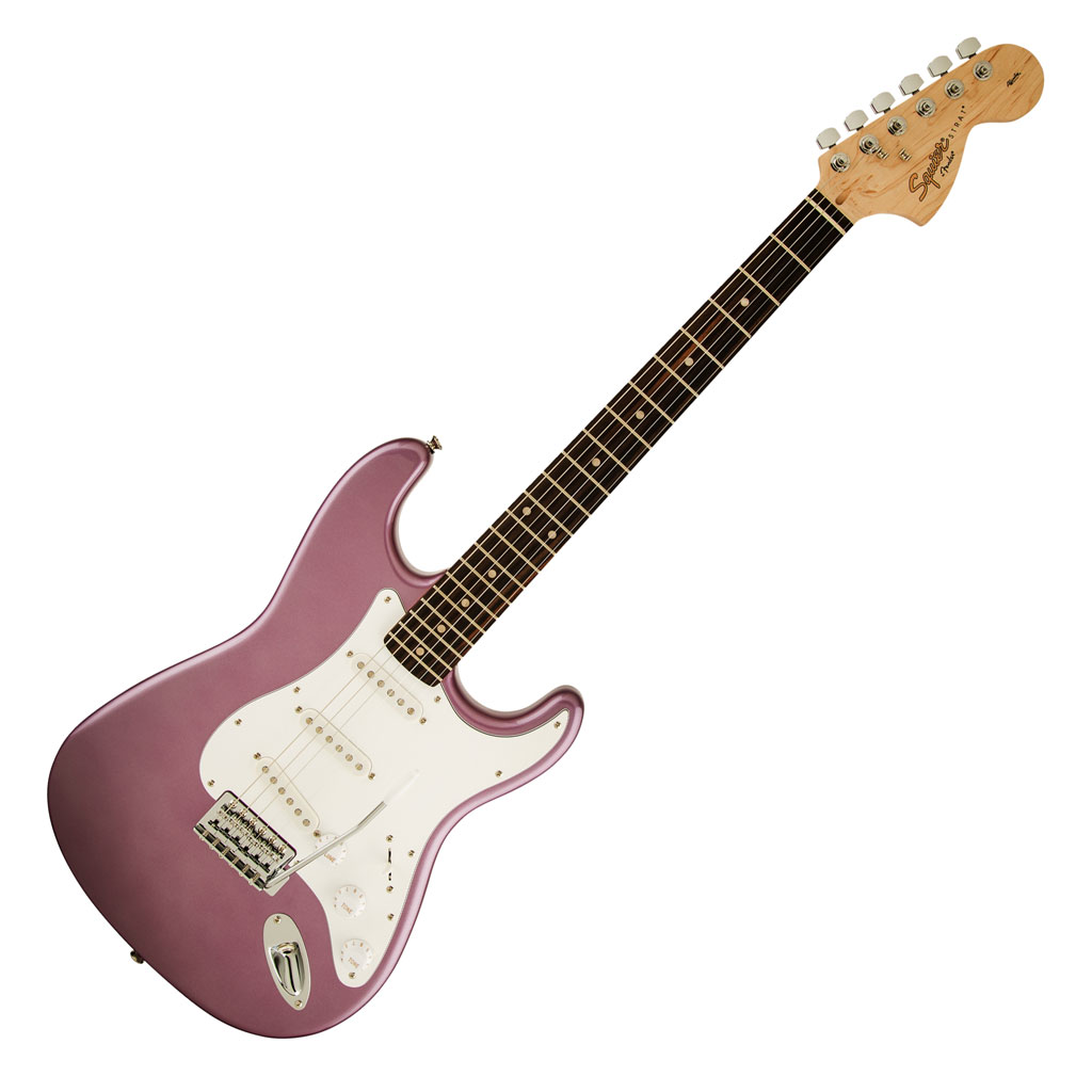 Squier Affinity Series Stratocaster® with Rosewood Fingerboard - Burgundy Mist - Bananas at Large