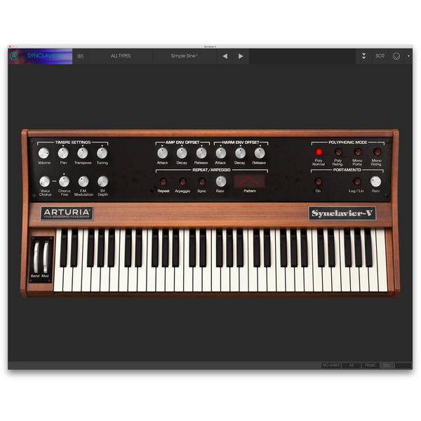 Arturia Synclavier V License Software Synthesizer [Download] - Bananas at Large - 1