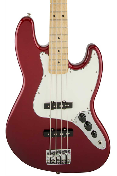 Fender Standard Jazz Bass with Maple Fingerboard - Candy Apple Red