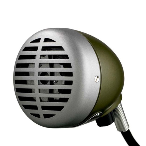 Shure 520DX Green Bullet Harmonica Microphone - Bananas at Large