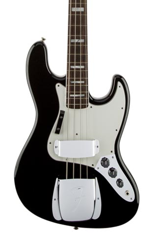 Fender American Vintage '74 Jazz Bass with Round-Laminated Rosewood Fingerboard - Black