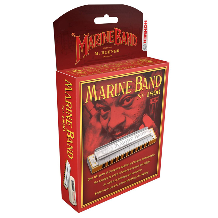 Hohner 1896BXD Marine Band D Blist Pack - Bananas at Large