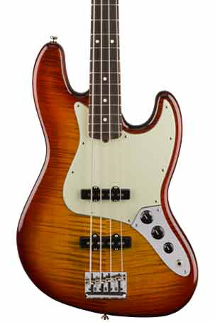 Fender Limited Edition American Pro Jazz Bass FMT - Aged Cherry Burst