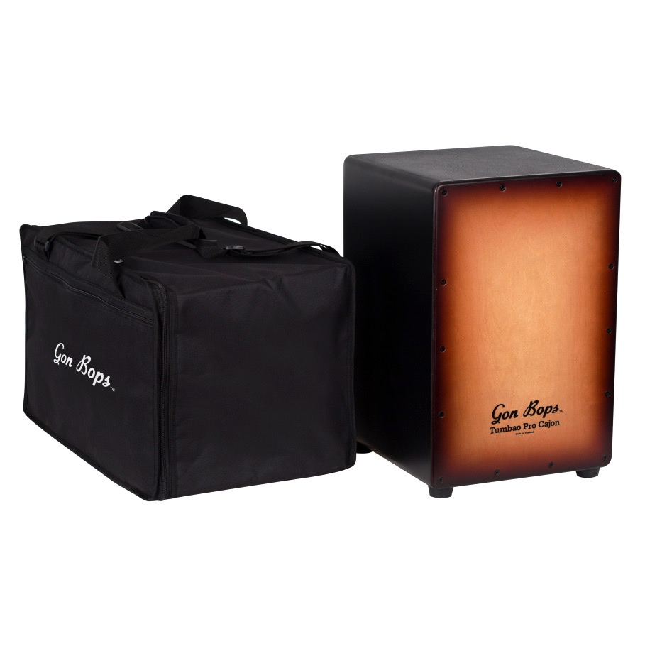 Gon Bops TPCJBTB Tumbao Pro Cajon Burnt Toast Burst with Gig Bag - Bananas At Large®