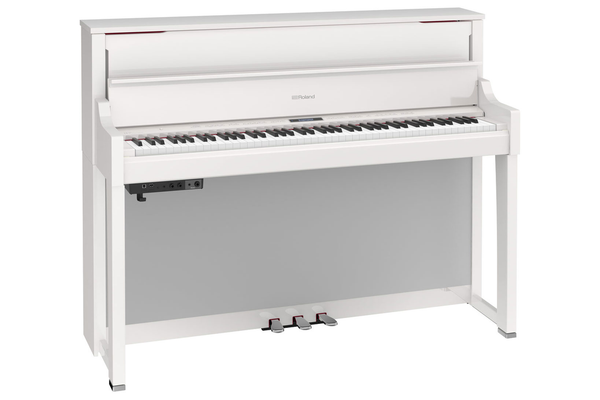 Roland LX-17 SuperNATURAL Digital Piano with Stand and Bench - Polished White