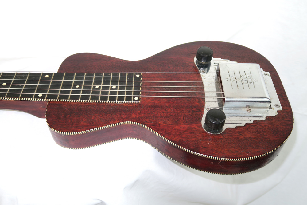 Oahu Tonemaster 1953 Six String Lap Steel with Snake Case (Jeffrey Cohen) (Pre-Owned) - Bananas at Large - 2