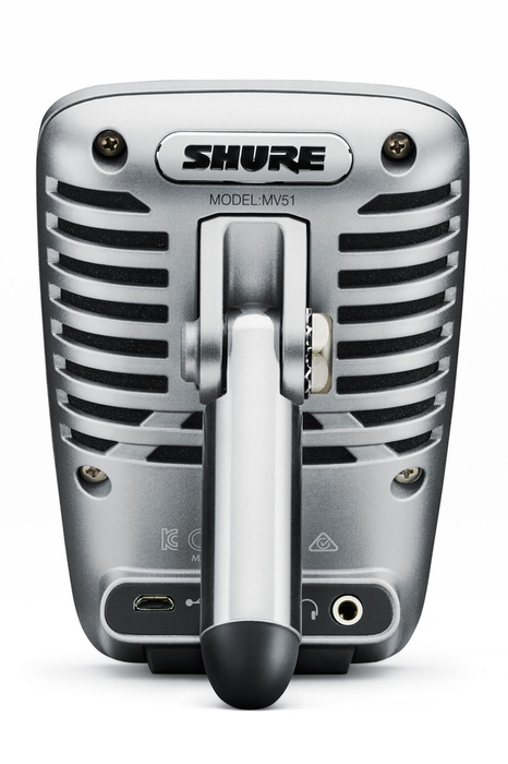 Shure MOTIV MV51 Large-Diaphragm Condenser Microphone for iOS and USB