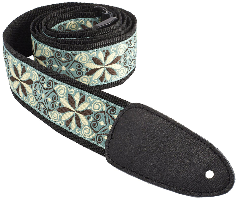 Henry Heller HJQ2 2 in. Hand Sewn Deluxe Multi Color Jacquard Guitar Strap - Bananas At Large®