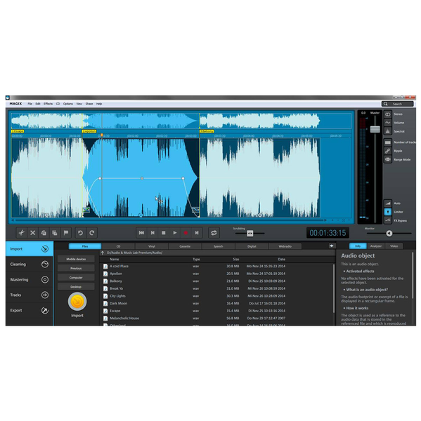 Magix Audio & Music Lab Premium Professional audio editing software [download]