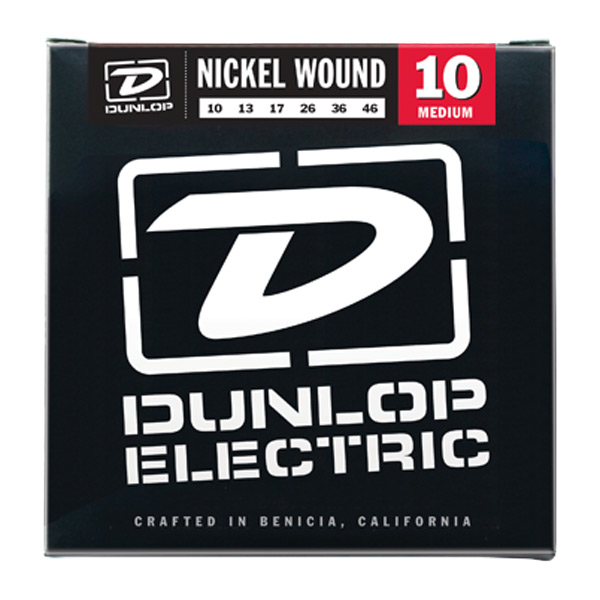 Dunlop DEN1046 Medium Nickel Wound Electric Guitar Strings 10-46 - Bananas At Large®