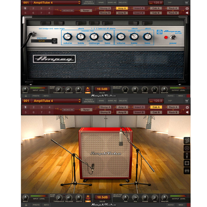 IK Multimedia Ampeg SVX2 Power Duo Bundle with Ampeg SVX 2 & Amplitube 4 [Download]