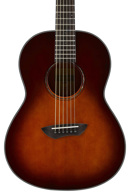 Yamaha CSF1M Parlor Size Acoustic-Electric Guitar with Hard Bag - Tobacco Brown Sunburst