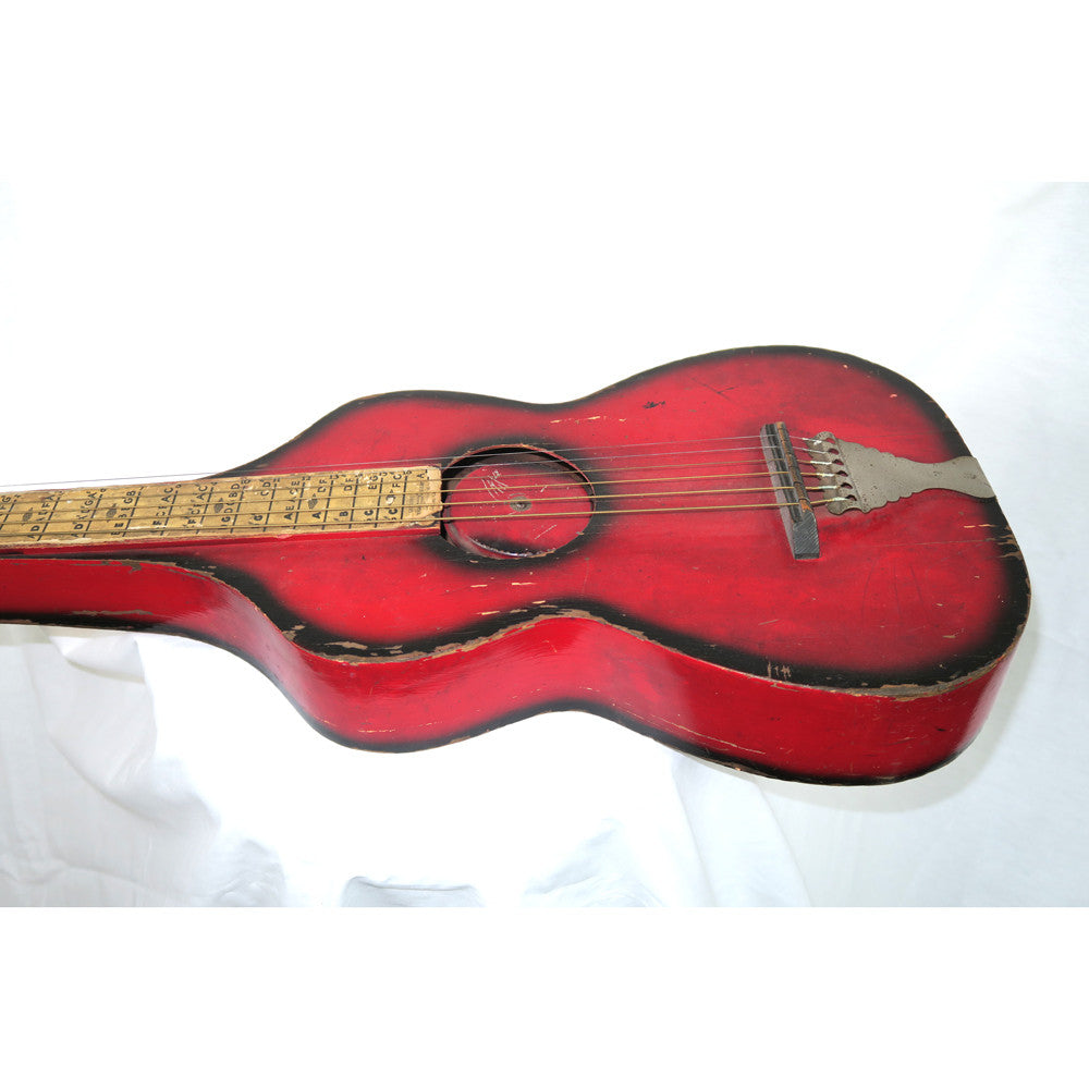 Radio Tone 1927 Hawaiian Guitar Weissenborn Hollow Body Neck Style Resonator, Redburst No Case (Jeffrey Cohen) (Pre-Owned) - Bananas at Large - 2
