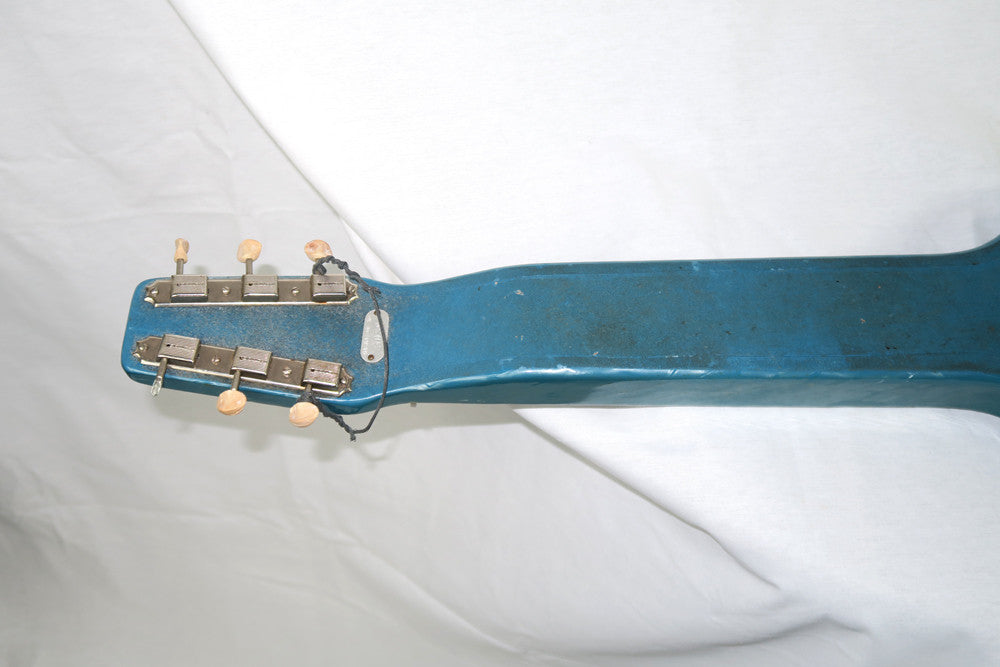 Magnatone Aloha 1950s Six String Lap Steel, Blue with Brown Case (Jeffrey Cohen) (Pre-Owned) - Bananas at Large - 6