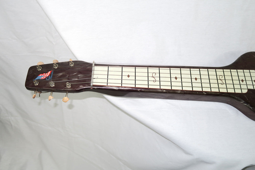Magnatone Amerloha 1950s Six String Lap Steel with Brown Case (Jeffrey Cohen) (Pre-Owned) - Bananas at Large - 4
