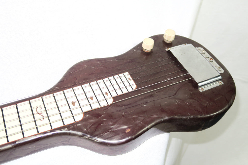 Magnatone Amerloha 1950s Six String Lap Steel with Brown Case (Jeffrey Cohen) (Pre-Owned) - Bananas at Large - 5