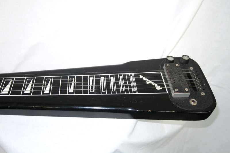 Airline 1961-64 Six String Lap Steel, Black with Grey Case (Jeffrey Cohen) (Pre-Owned) - Bananas at Large - 2