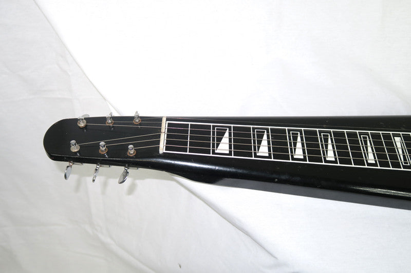Airline 1961-64 Six String Lap Steel, Black with Grey Case (Jeffrey Cohen) (Pre-Owned) - Bananas at Large - 3