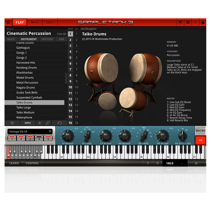 IK Multimedia SampleTank3 Cinematic Percussion [Download]
