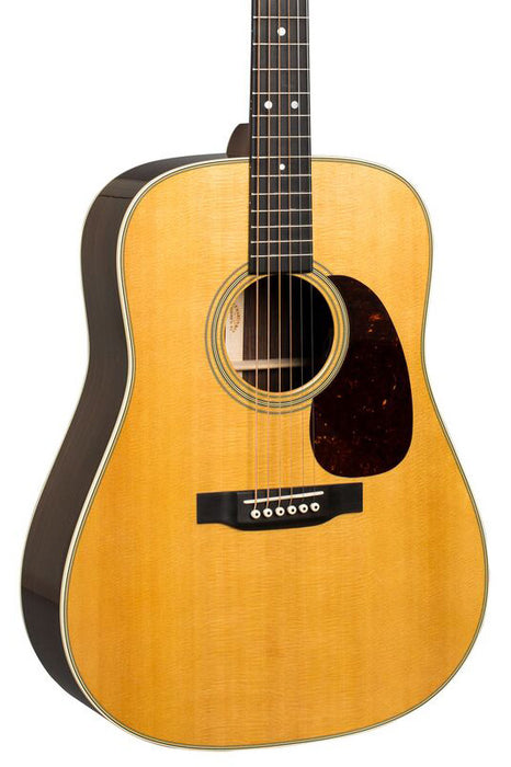 Martin D 28 Dreadnought Acoustic Guitar With Case Natural