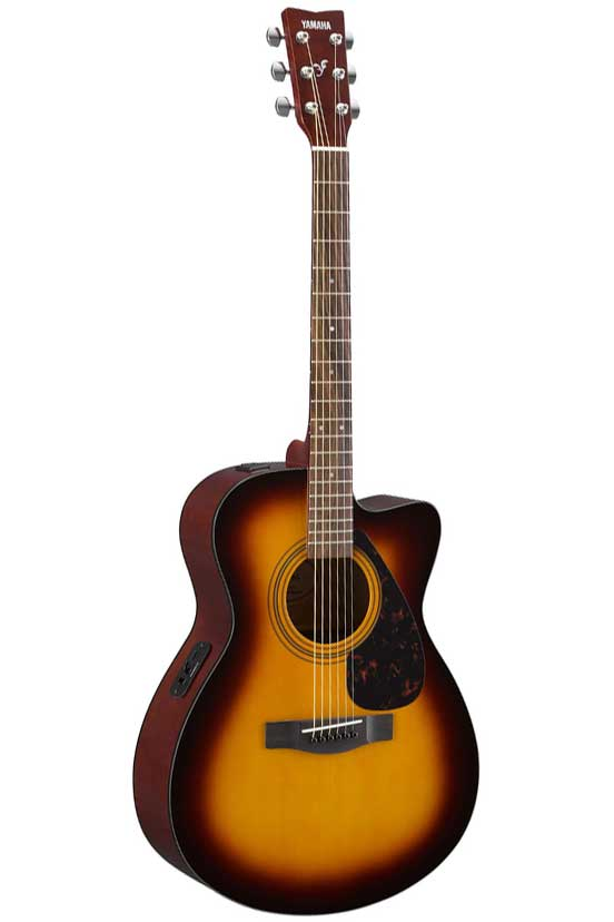 Yamaha FSX315C Concert Cutaway Acoustic Electric Guitar - 3 Tone Sunburst - Bananas at Large - 2