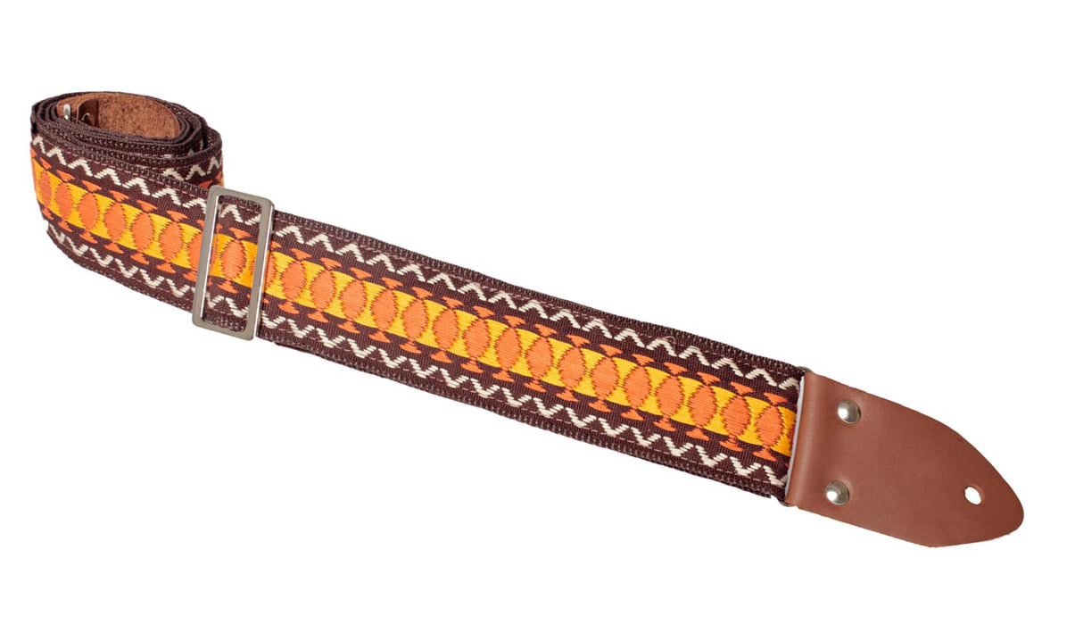 Heller Vintage Guitar Strap brown orange crean