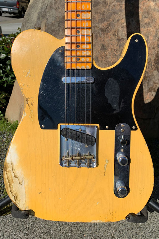 Fender Limited Edition 70th Anniversary Custom Built Broadcaster - Heavy Relic Aged Nocaster Blonde