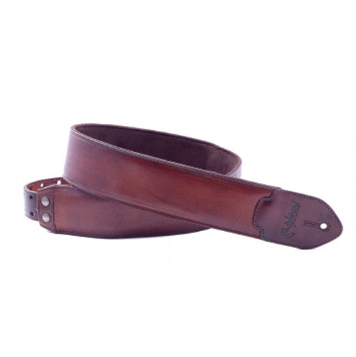 RightOn! Leathercraft Guitar Strap Vintage Brown - Bananas at Large - 2