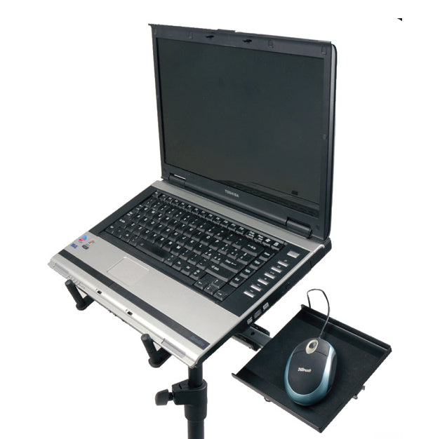 Quik-Lok LPH-003 Tripod Laptop Holder with Mouse Tray