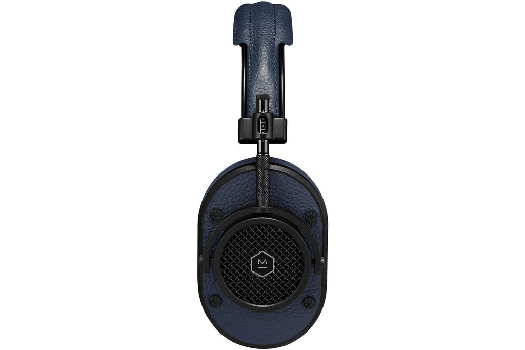 Master & Dynamic MH40 Over Ear Headphones - Black Metal with Navy Leather
