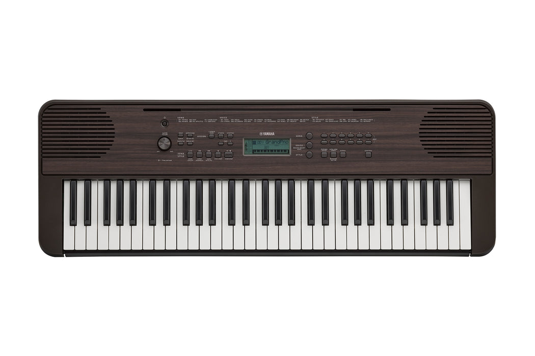 Yamaha PSR-E360 Portable Keyboard - Dark Walnut