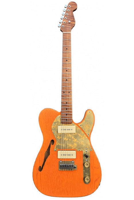Paoletti Guitars Nancy Thinline 2P90 Electric Guitar - Sunset Orange