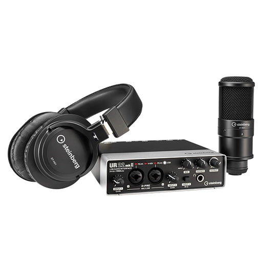 Steinberg UR22 MKII Recording Pack with Interface, Microphone, and Monitor Headphones