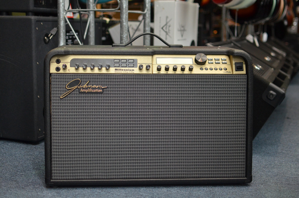 Johnson Millennium Stereo 150-Watt 2x12 Combo with J12 Foot Controller & Cover (Pre-Owned)