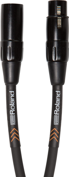 Roland RMC-B10 Black Series 10ft Microphone Cable with Heavy-Duty XLR Connectors - Bananas at Large