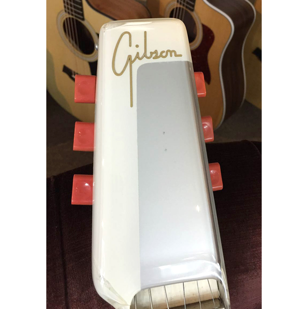 Gibson Ultratone 1940s Six String Lap Steel, White/Red with Brown Case (Jeffrey Cohen) (Pre-Owned) - Bananas At Large®