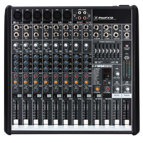 Mackie ProFX12 ProFX 12-channel Professional Effects Mixer w/ USB - Bananas at Large