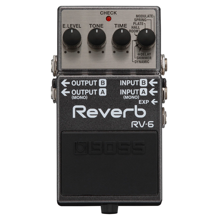 Boss RV-6 Digital Delay and Reverb Pedal - Bananas at Large - 1