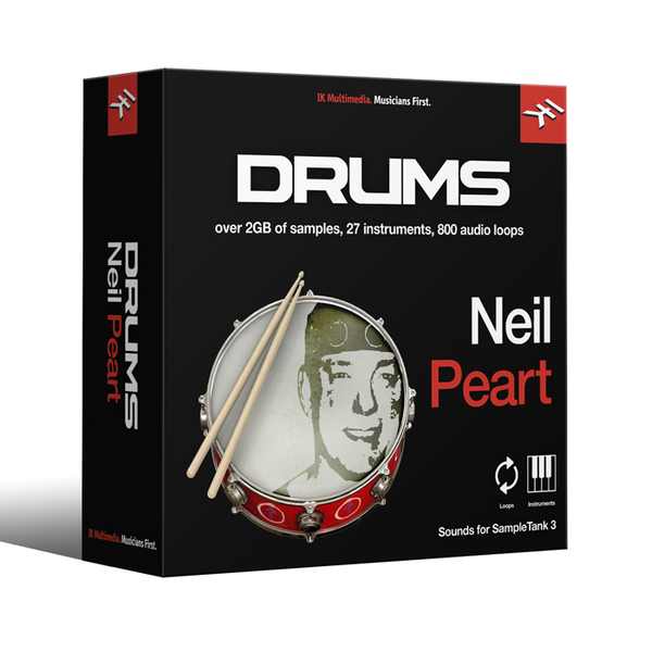 IK Multimedia IN-NPDR-DID-IN ST3 - Neil Peart Drums Loops & Kits of Neil Peart [Download] - Bananas At Large®