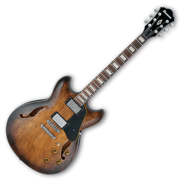 Ibanez ASV10ATCL Artcore Vintage Hollow Body Guitar - Tobacco Burst Low Gloss - Bananas At Large®