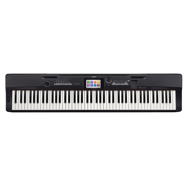 Casio PX-360MBK Privia 88-Key Scaled Hammer Action Piano Bundle CS67BK STAND - Bananas At Large®