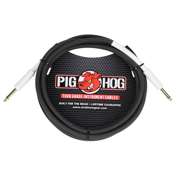 Pig Hog PH1 1ft 1/4 - 1/4 8mm Instrument Cable - Bananas at Large