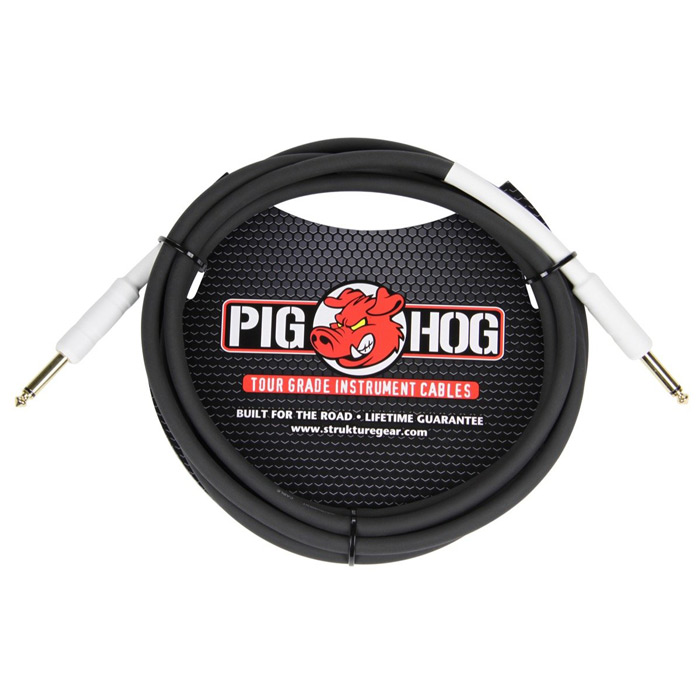 Pig Hog PH6 6ft 1/4 - 1/4 8mm Instrument Cable - Bananas at Large
