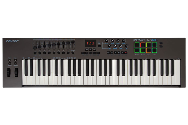 Nektar Impact LX61+ 61-Key USB Keyboard Controller with Nektar DAW Integration