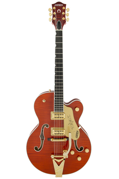 Gretsch G6120TFM Players Edition Nashville with String-Thru Bigsby - Orange Stain - Bananas at Large - 1